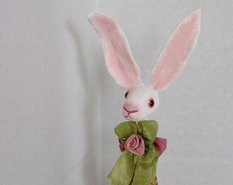 Tiny Bunny Folk Art