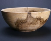 Handmade Mineral Stained Poplar Wood Bowl 602 by Stephen Sanders