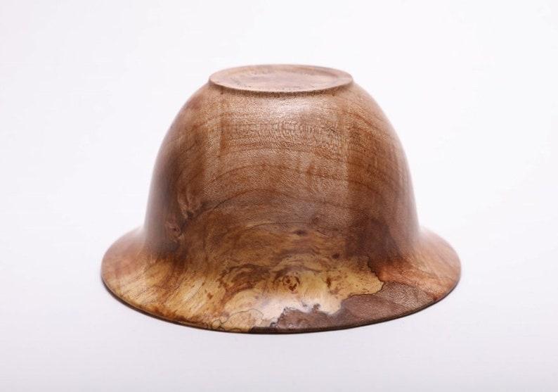 Big Leaf Maple Burl Flanged Bowl #1828  5 14 X 2 34