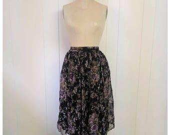 Vintage 90s bohemian floral skirt