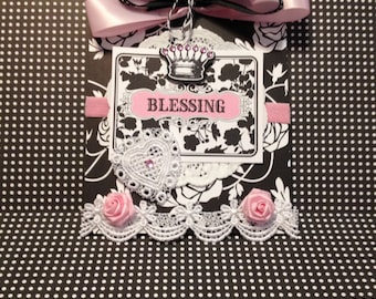 Baby Girl Card, Blessing, Welcome Baby Card