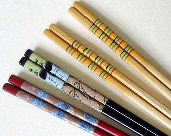 8 Chopsticks, Assorted Vintage 90s Japan, Hair Stick