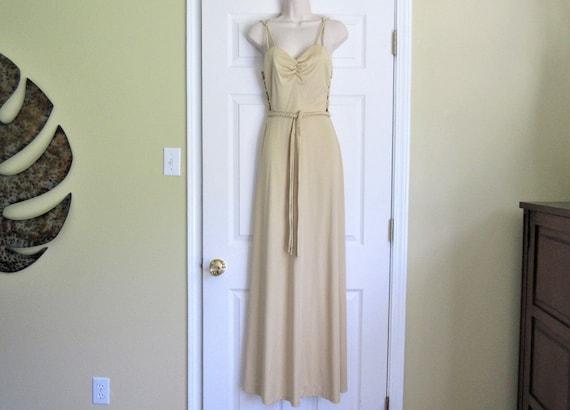 70s Gown, Jody T of California Slinky Disco Dress