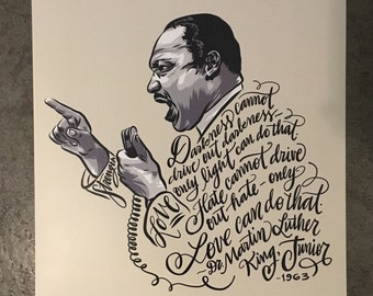 Art Print Martin Luther King Jr Injustice Illustration Etsy