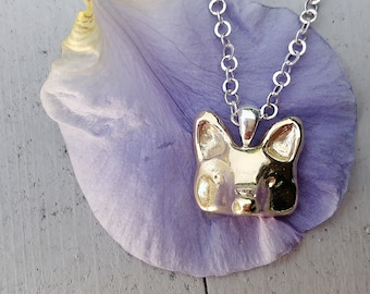 Fox Necklace, Bronze Fox, Fox Jewelry, Animal Necklace, Handmade