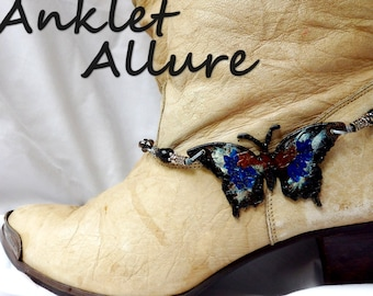 BUTTERFLY Boot Chains RUSTIC Boot Jewelry Boot Bracelets Boot Charms