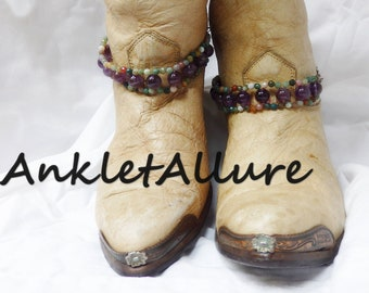 AMETHYST Boot Chains GEMSTONE Boot Jewelry Boot Charms GEMSTONE Jewelry