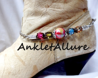 CONFETTI Jewelry Boot Chains WESTERN Boot Jewelry Boot Bracelets Boot Charms