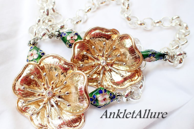Flower Boot Chains Gold Boot Jewelry