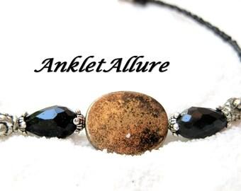 Black Anklet Old GOLD Ankle Bracelet Medallion Anklets for Women GUARANTEE