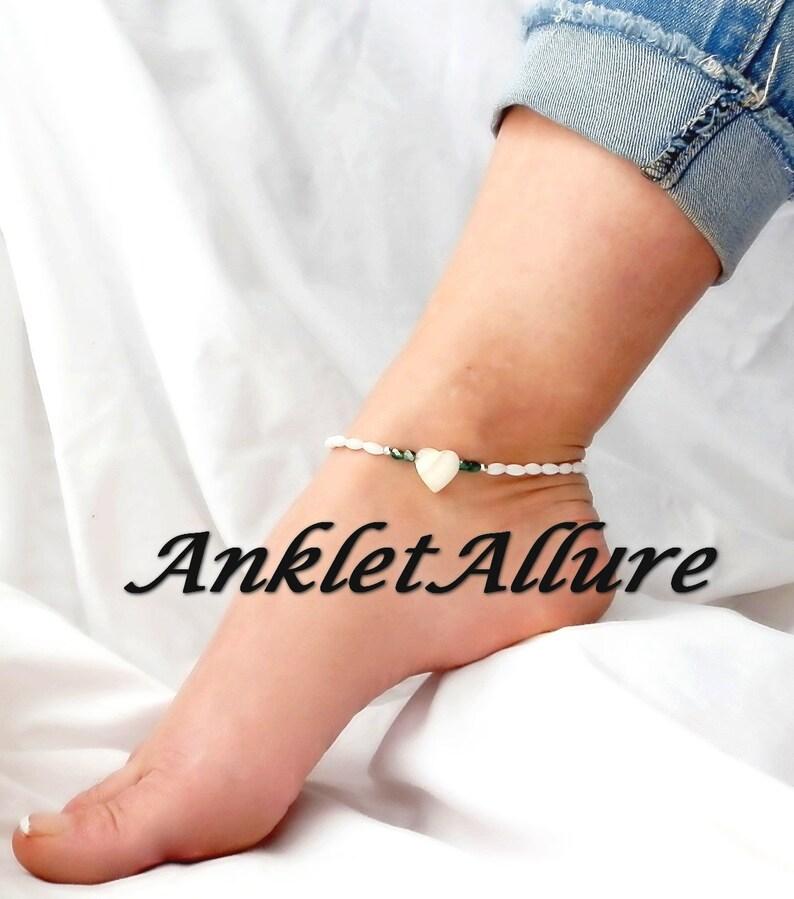 Romantic BEACH Anklet HEART CHOKER ShellAnklets for Women