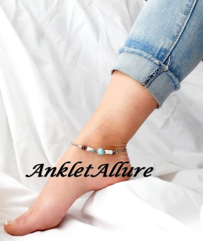 Anklet Ankle Bracelet Stainless Steel Chain Anklet Turquoise Ankle Bracelet GUARANTEED