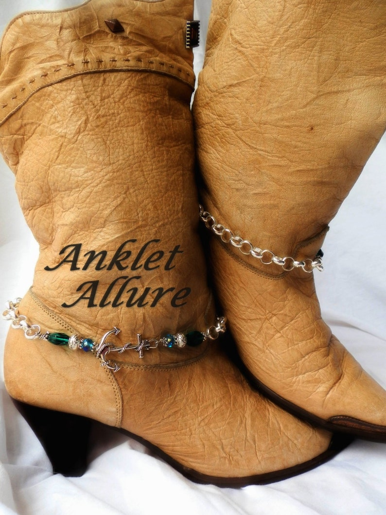 Winter Cruise Boot Chains Anchor Boot Jewelry Boot Bracelets Boot Buckles