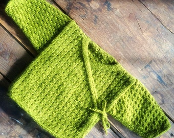 The Eyelet Baby Kimono Knitting Pattern