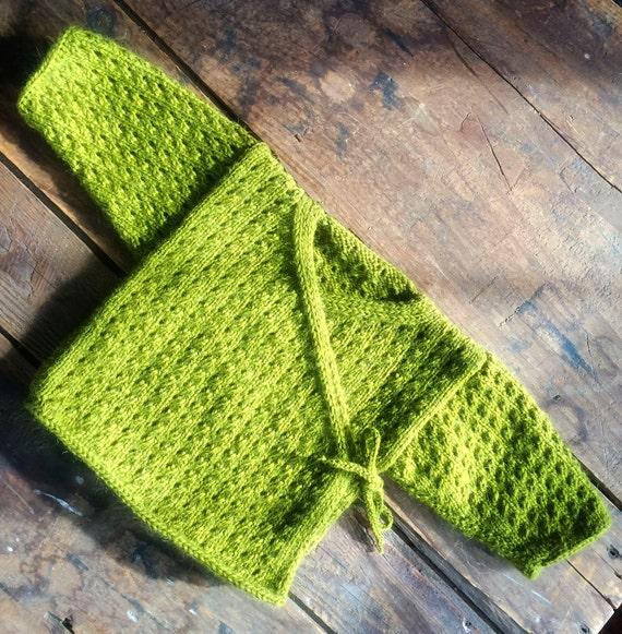 The Eyelet Baby Kimono Knitting Pattern Etsy