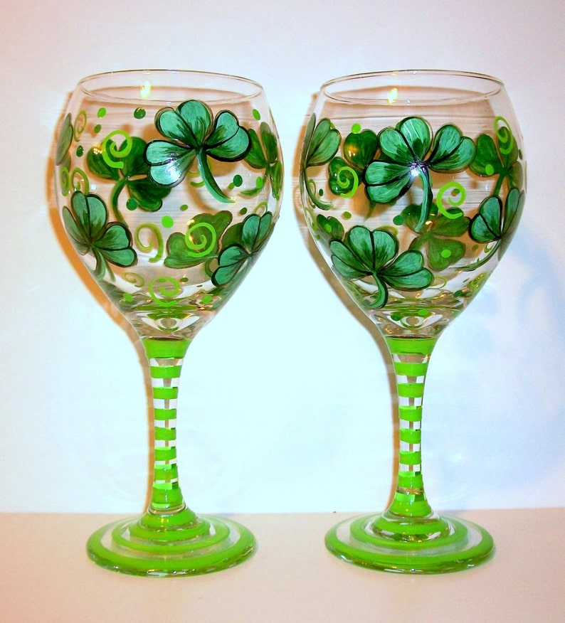 f6883ad8442 Shamrocks 4 Leaf Clover St. Patrick s Day Hand Painted
