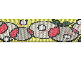 Loom Beading Pattern, Bead Bracelets Pattern, Square Stitch, Peyote Template, Cuff Pattern, Peyote Bracelet Pattern, Digital Pattern