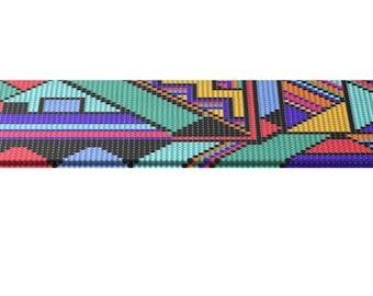 Loom Beading Pattern, Square Stitch, Bead Bracelets Pattern,Peyote Pattern, Modern, Peyote Template, Bracelets Digital Pattern, Cuff Pattern
