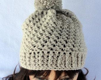 CROCHET PATTERN All Sizes, Toddler Child Adult Crochet hat pattern, crochet beanie pattern, Roxbury Beanie Hat Pattern