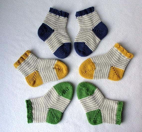 Knitting Pattern Williams Baby Socks Knit Sock Etsy