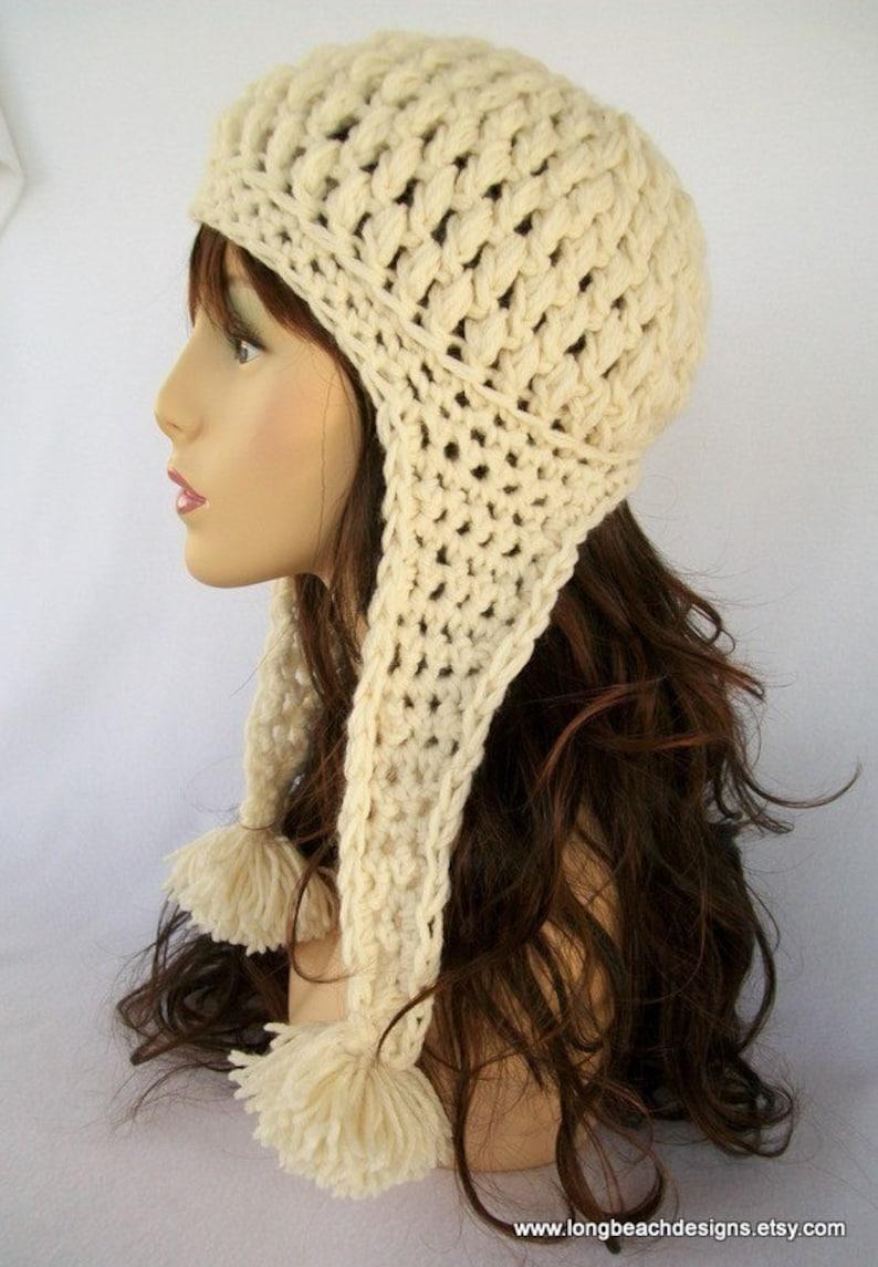 89368a57 ... Crochet Ear Flap Hat Pattern Crochet Hat Pattern Crested image ...