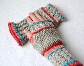 KNITTING PATTERN Scarborough Fair fingerless mitts / Fingerless Gloves / Adult/Teen Sizes