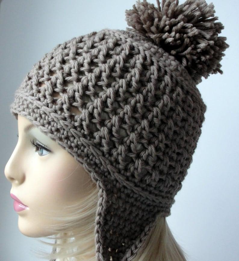 Crochet Pattern Ear Flap Hat Pattern Booth Bay Ear Flap  6f55b69d615