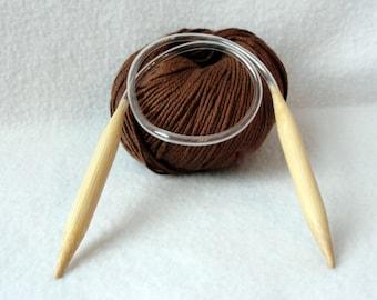 Circular knitting needle,  Bamboo knitting needles, Size US15 10mm 20 inch circular knitting needles, 50 cm circular knitting needles