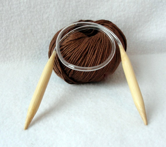 """10/"""" bamboo circular knitting needle 0 1 2 3 4 5 6 7 8 9 10 10.5 11 13 15 USAmade"""