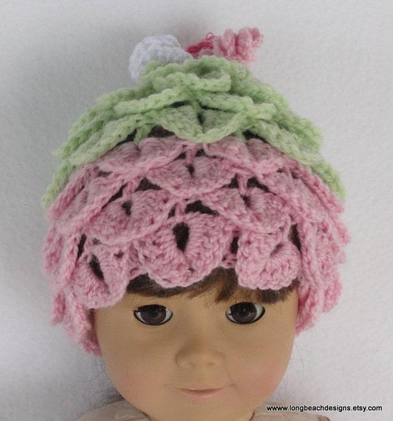 Crochet doll hat pattern Doll Leaf Beanie for Bitty Baby  5fc9e6460bb