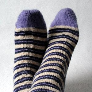 KNITTING PATTERN  Street Socks  knit sock pattern  adult sock pattern  striped sock pattern  scrap sock pattern  scrap knitting