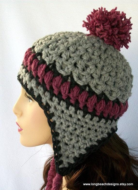 Crochet Pattern Crochet Ear Flap Hat Pattern Aspen  8f3e4f94007