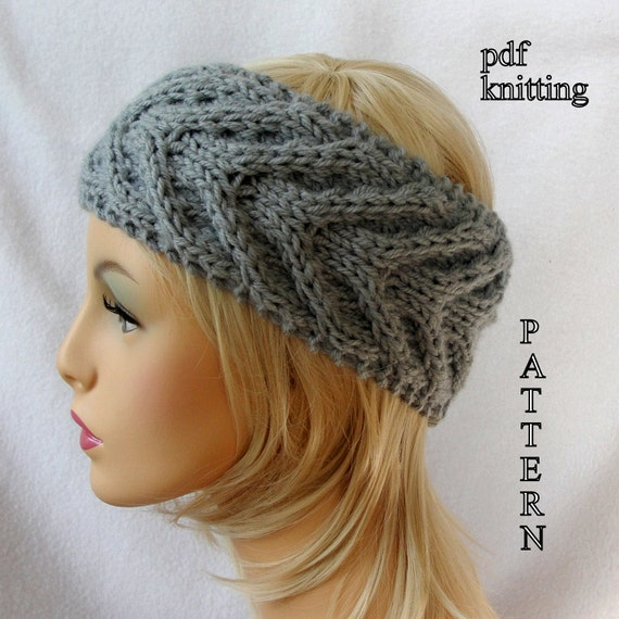 Knit Ear Warmer Pattern Knit Headband Pattern Knit Staghorn Etsy