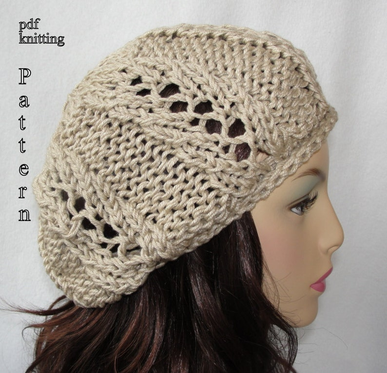 4d40c2f14af Knitted Hat Pattern Knit slouch beanie pattern Knit Spring