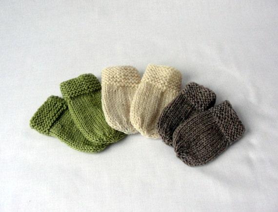 Knitting Pattern Libbys Baby Munchkin Mitts Knit Pattern Etsy