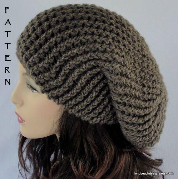 Crochet Hat Pattern Crochet Beanie Pattern Slouch Hat Etsy