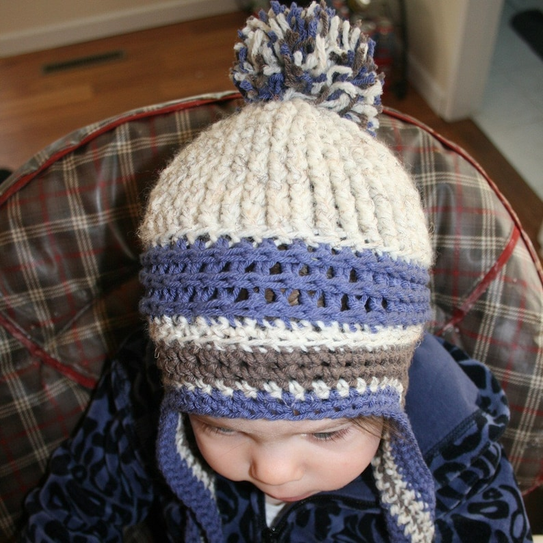 c73a5d17 ... Crochet Beanie Pattern Ear Flap Crochet Pattern Kids image 3