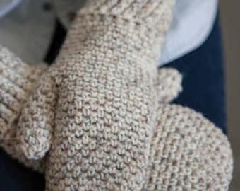CROCHET PATTERN Painless Mittens, crochet mitten pattern for Adults and Teens