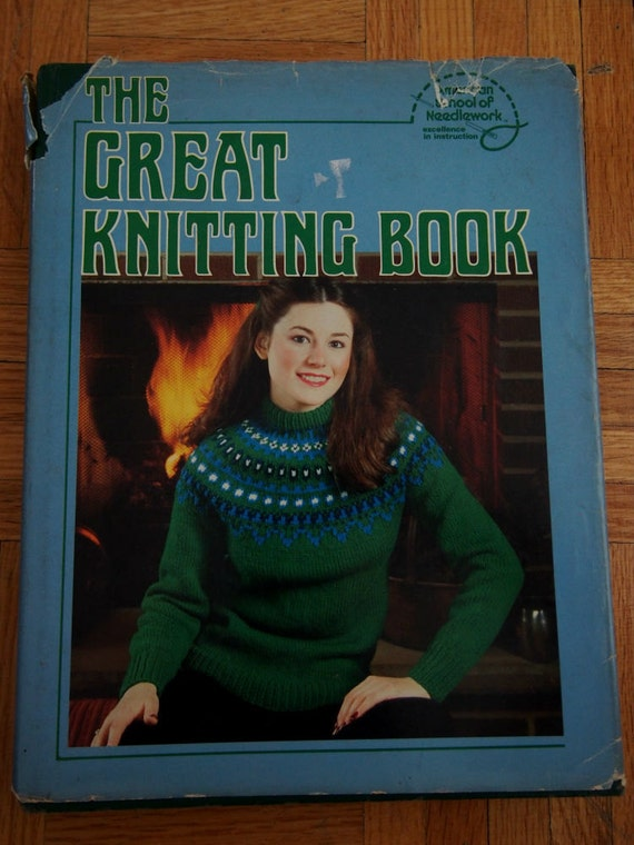 On Sale Vintage Knitting Pattern Book The Great Knitting Book Etsy