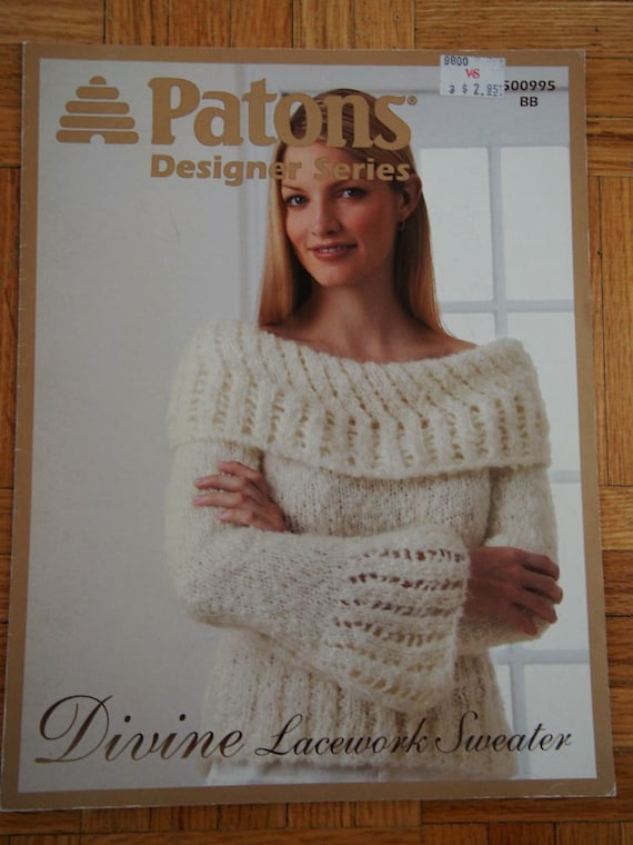 Womens Knit Sweater Pattern Instant Download Knitting Etsy