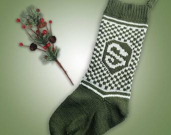 Slytherin Inspired Christmas Stocking Knitting Pattern Instant PDF Download Knitting Pattern Slytherin Inspired Hogwarts House Stocking