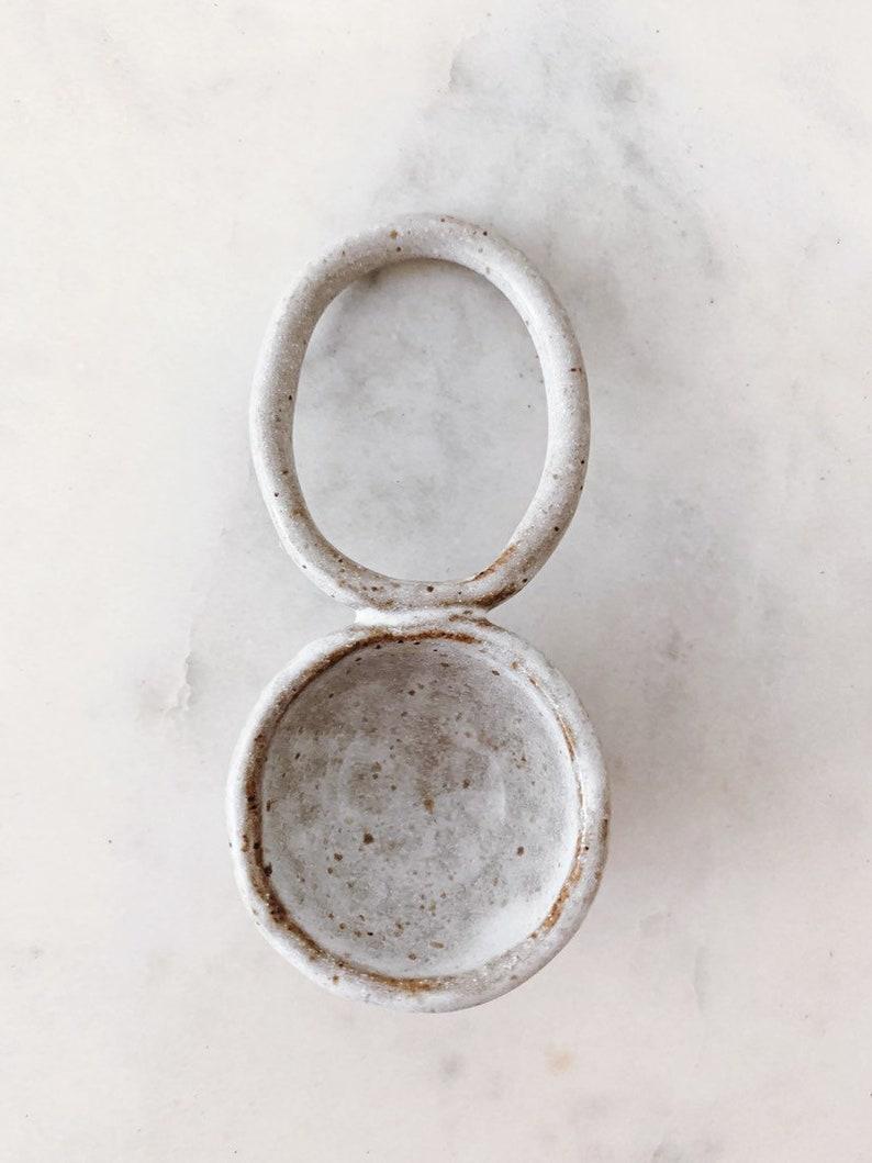Loop Scoop // handmade ceramic tea coffee and spice scoop
