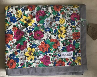 Antique shabby chic floral minky blanket ON Clearance!