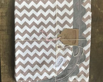 Grey chevron car seat canopy/cover ON CLEARANCE !