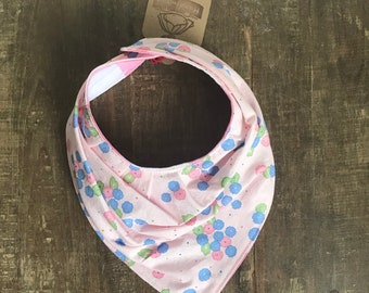ON CLEARANCE ! Baby drool bib/accessory pink flower and gingham