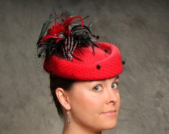 Lady Macbeth: Skeleton Hand Hat, Ladies High Fashion Hat
