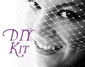 DIY - PEARL Accent Birdcage Veil Kit - Couture Quality Materials