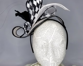 The Floral Collection: Whimsical Black & White Floral Fashion Hat