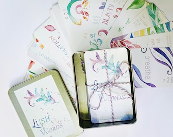 Lush Words:  Inspiration Card Twin Pack in Gift Tin