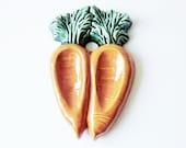Carrot Spoon Rest Kitchen Decor Vintage Ceramic Vegetable Kitsch Home Food Collectible Garden